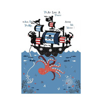 Catherine Lansfield Kids Pirate Ship Wall Mural - 158 x 232 cm