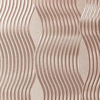 Foil Wave Wallpaper - Rose Gold