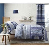 Catherine Lansfield Santorini Easy Care Single Duvet Set Blue