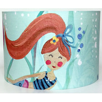 Mermaid with Red Hair Large Fabric Ceiling Shade
