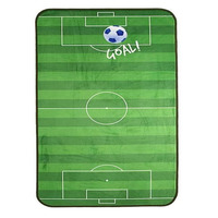 Football Pitch Velvet Soft Rug - Blue 110 x 60 cm