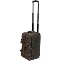 San Babila Antique / Vintage Leather Wheeled Holdall - Carry On - Mud