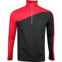 Galvin Green Golf Pullover - Dylan Insula - Black - Red AW19