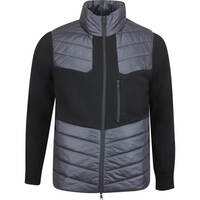 G/FORE Golf Jacket - Killer Quilted Wool FZ - Onyx AW19