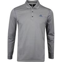 adidas Golf Shirt - LS Thermal Polo - Grey Three AW19