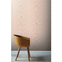 Pink Blush and Rose Gold Dotty Wallpaper