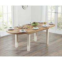 Mavis Oak And Cream Extending Table