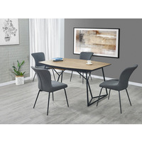 Tristan Industrial Oak Extending Table 160cm-210cm