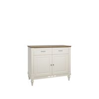 Florence 107cm Compact Vanilla Cream And Oak Sideboard