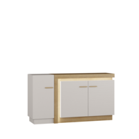 Lionell 160cm Riviera Oak And White Gloss Sideboard