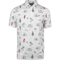 TravisMathew Golf Shirt - Tinsel Tradition Polo - Christmas Print AW19