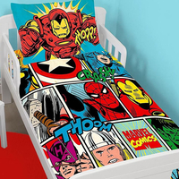 Marvel Comics, Strike Toddler / Junior Bedding Bundle 4.5 Tog 120 x 150