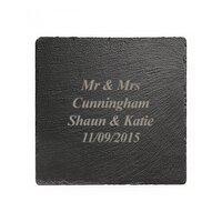 Engraved Square Slate Coaster