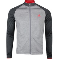 adidas Golf Jumper - Midweight Textured FZ - Grey Six SS20
