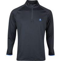 G/FORE Golf Pullover - Circle G's Perforated Mid - Black SS20
