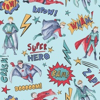 Arthouse Superhero Wallpaper Blue