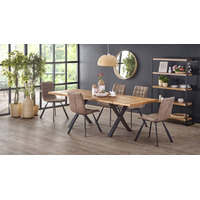 Xante 160cm-250cm Oak Dining Table