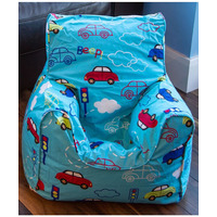 Cars, Boys Bean Chair - Blue