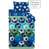 Catherine Lansfield Kids, Blue Football Single Duvet Sets