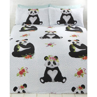 Pandas Floral Single Bedding Set