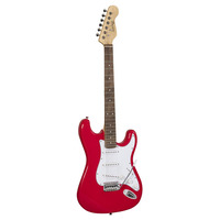 Rider Double Cutaway 3/4 Size Electric Guitar - Red
