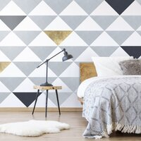 ANDVIKA Large Triangle Wall Decals - Pack of 12 / Mixed Colours