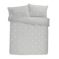 Tufted Star Bed Sets, Silver - 100% Cotton