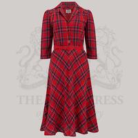 Lisa 3/4 Length Sleeve - Red Check, 14
