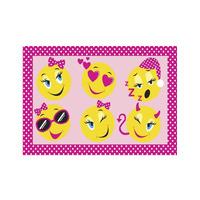 Smiley Faces Mat 60 x 90 cm