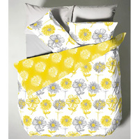 Catherine Lansfield Banbury Floral Duvet Yellow King Size