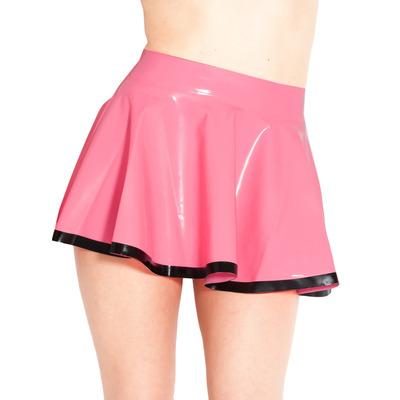 Latex Skating Skirt With Trim