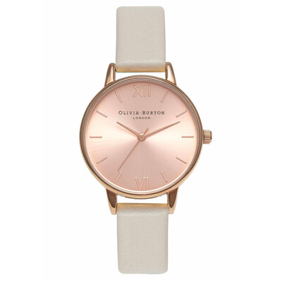 Midi Dial Watch - Mink & Rose Gold