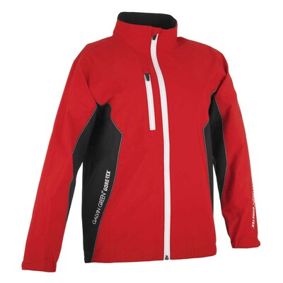 Galvin Green Junior Richie Paclite Waterproof Golf Jacket Red