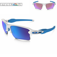 Oakley Ultimate Prizm Golfer Package - Flak Jacket 2.0 XL White-Blue
