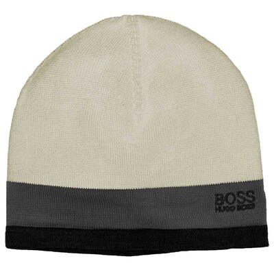 Hugo Boss Ciny Golf Beanie Hat Asphalt FA15