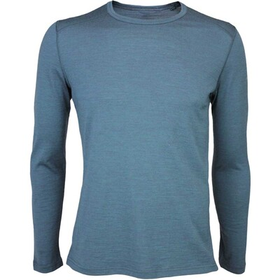 Icebreaker Oasis Crew Merino Golf Base Layer Nori Heather AW15