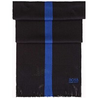 Hugo Boss Knitter Wool Blend Scarf Dark Grey
