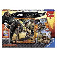 Ravensburger How To Train Your Dragon - 3 X 49 Piece Jigsaw Puzzle