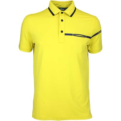 Cherv242 Golf Shirt ANETO Citron Yellow SS16
