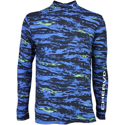 Cherv242 Golf Base Layer Shirt TUTTOK Blue Camo SS16