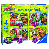 Ravensburger TMNT Half Shell Heroes, 4 In A Box Jigsaw Puzzles
