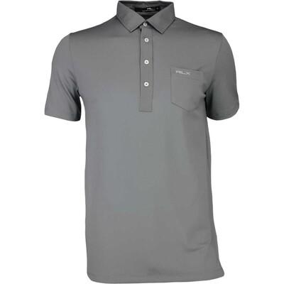 RLX Golf Shirt Woven Tech Pique Perfect Grey AW16
