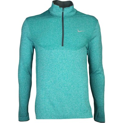 Nike Golf Pullover - Flex Knit Zip - Rio Teal AW16