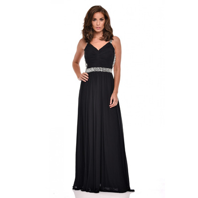 Nazz Collection Nola Black Backless Maxi Grecian Dress
