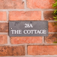 Slate Address House Sign 25.5 x 10cm