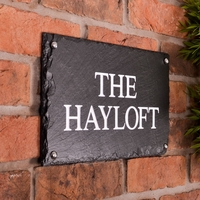 Rustic Slate House Sign - 2 line 35.5 x 20cm