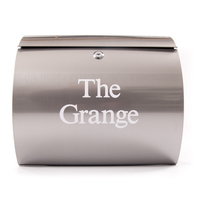 Stainless Steel Curved Letterbox personalised with your address