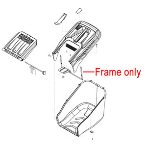 Al Ko Lawnmower Grassbox Frame 46366701
