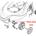 Click to view product details and reviews for Mountfield Lawnmower Stub Axle 381005089 0.