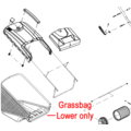 Click to view product details and reviews for Cobra Rm46 Lawnmower Grassbag Lower 25100165502.
